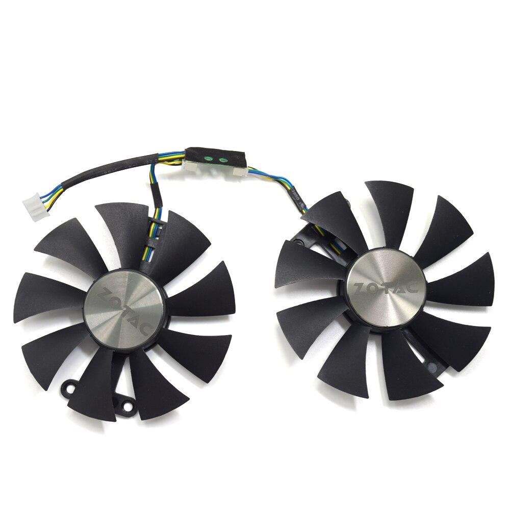 Original 87mm GA91S2H PC Cooling fan For ZOTAC GeForce GTX 960 AMP 980Ti GTX950 AMP 2GB GPU Graphics Video Card Cooling Fans