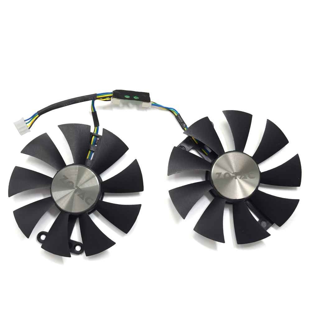 Original 87mm GA91S2H PC Cooling <font><b>fan</b></font> For <font><b>ZOTAC</b></font> GeForce <font><b>GTX</b></font> <font><b>960</b></font> AMP 980Ti GTX950 AMP 2GB GPU Graphics Video Card Cooling <font><b>Fans</b></font> image