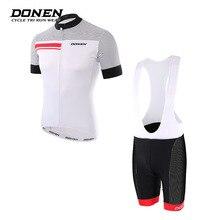 DONEN New Summer Short sleeves Cycling jersey Set Cycling Top shorts pants Man jacket MTB Bike