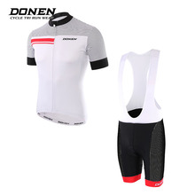 DONEN New Summer Short sleeves Cycling jersey Set Cycling Top+shorts pants Man jacket MTB Bike Bicycle Maillot Ropa ciclismo