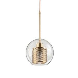 Image 2 - Lamp Glass Bulb Pendant Light Master Bedroom Luminaria De Teto Pendente Vintage Art Deco Vintage Industrial Pendant Nordic Loft