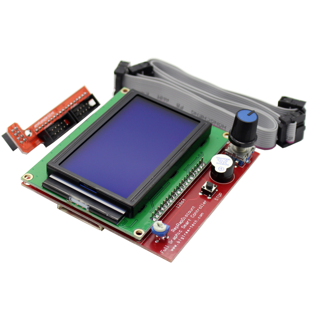 CHANGTA RAMPS1.4 12864 LCD Control Panel 3D Printer Controller Display 12864 LCD Ramps Smart Parts
