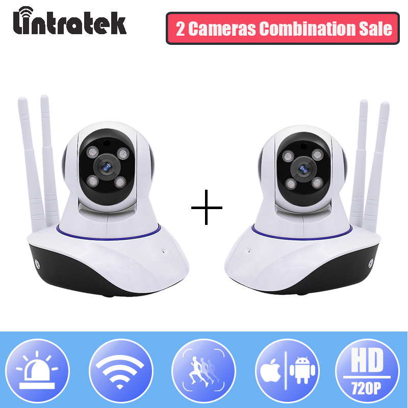 Lintratek Surveillance WiFi IP Camera Wireless HD 720P Mini Security CCTV Camera PTZ wi-fi Home Baby Monitor Onvif IP Cam