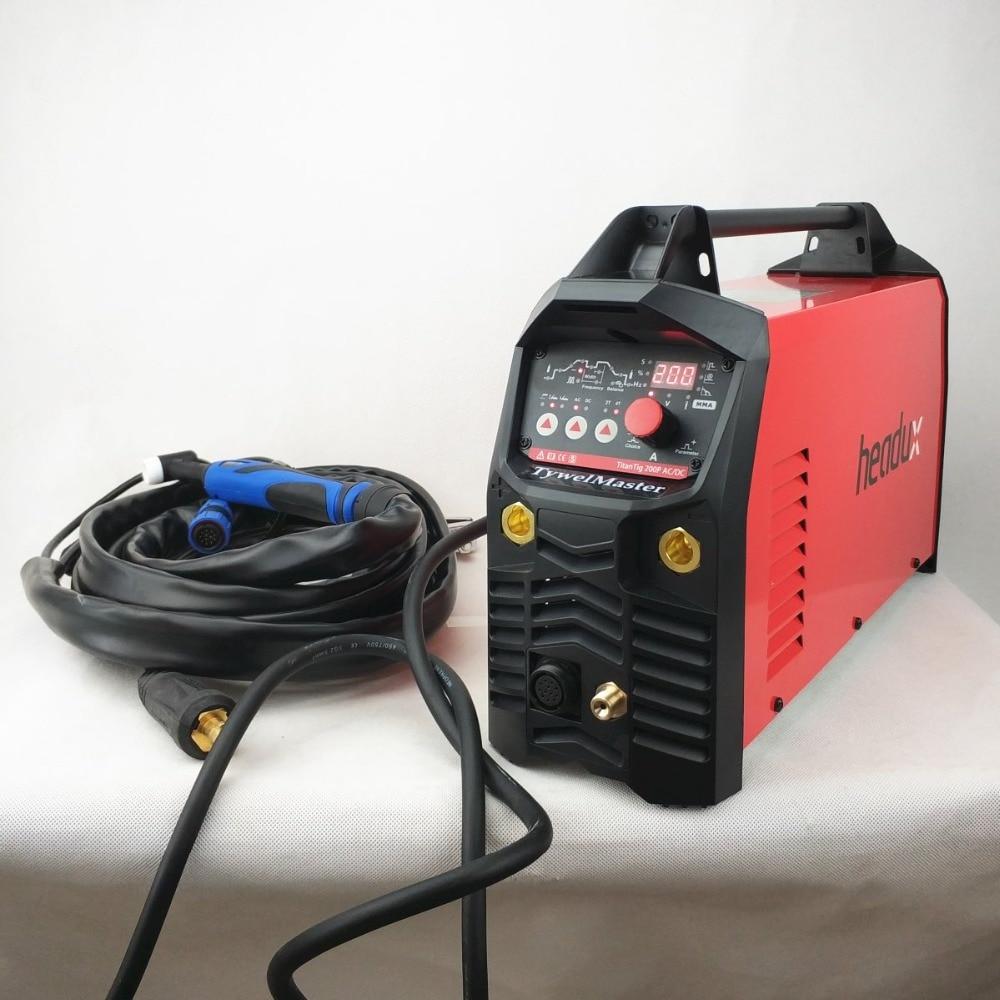 Professionnel 200A ACDC Impulsion Tig Soudage Machine De Contrôle Numérique AC/DC D'impulsion IGBT Onduleur TIG/MMA Matériel De Soudage