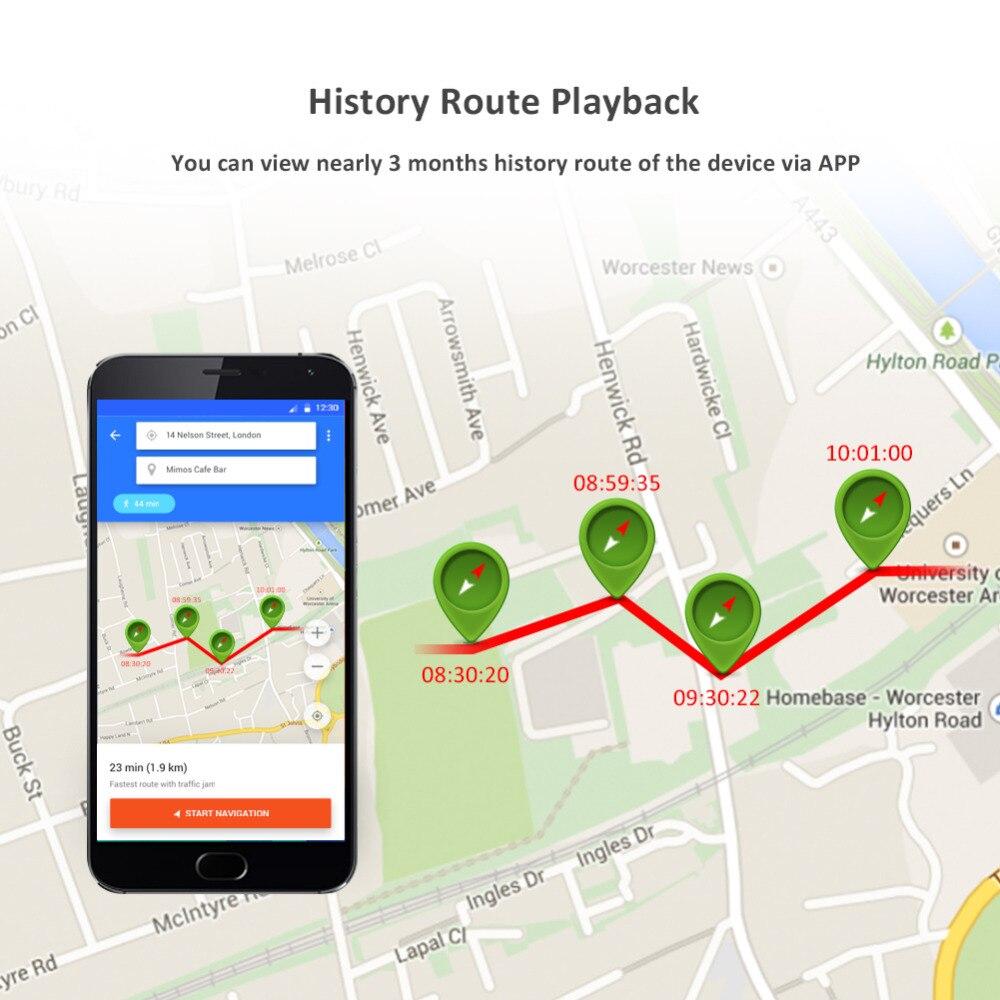 Montre intelligente GPS Tracker enfants T58 dispositif de suivi en temps réel Bracelet GPS localisateur SOS moniteur vocal itinéraire historique répertoire - 5
