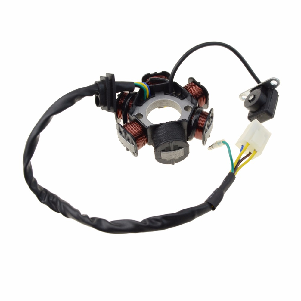 GOOFIT 6-Coil Magneto Stator Ignition Generator For GY6 50cc 70cc 90cc 110cc 125cc Moped ATV Dirt Bike Full Wave Coil K079-807