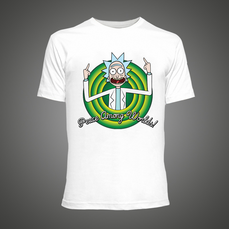buy cool rick morty men t shirt 2016. Black Bedroom Furniture Sets. Home Design Ideas