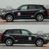 World Datong car styling sport car sticker For Audi Q5 Q3 Q7 body sport decals auto stickers