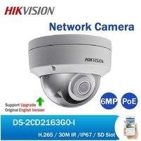 Hikvision DS 2CD2163G0 I 6MP ИК купольная сетевая Камера H.265 видеонаблюдения стационарная купольная PoE IP Камера заменить DS 2CD2185FWD I