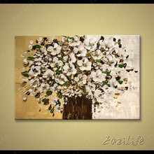 Flower Hand Painted palette knife 3D texture flower Hand Painted Canvas Oil Painting Wall Pictures For Living Room 04