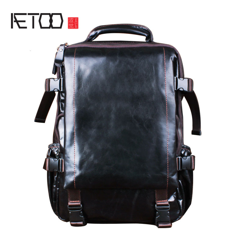 цены AETOO Leather shoulder bag man retro leisure computer bag hand first layer cowhide bag backpack female travel bag