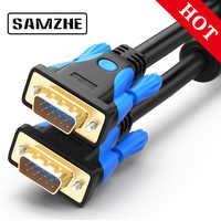 SAMZHE 1080P Cable VGA Cable chapado en oro conector 1,5 m Cable VGA Cable 2m 3m 5m para computadora monitor proyector de pantalla