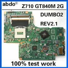 DUMBO2 REV2.1 для lenovo Ideapad Z710 ноутбук материнская плата SR16D HM86 PGA947 DDR3 GT840M 2 ГБ комплексное тестирование на работу