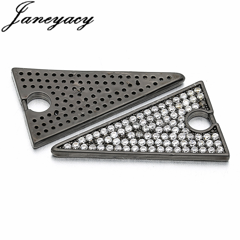 Fashion Brass Cubic Zircon Triangle Pendant Accessories DIY Jewelry Necklace Earrings Connector Making Accessories Accesorios in Jewelry Findings Components from Jewelry Accessories