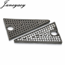 Fashion Brass Cubic Zircon Triangle Pendant Accessories DIY Jewelry Necklace Earrings Connector Making Accesorios