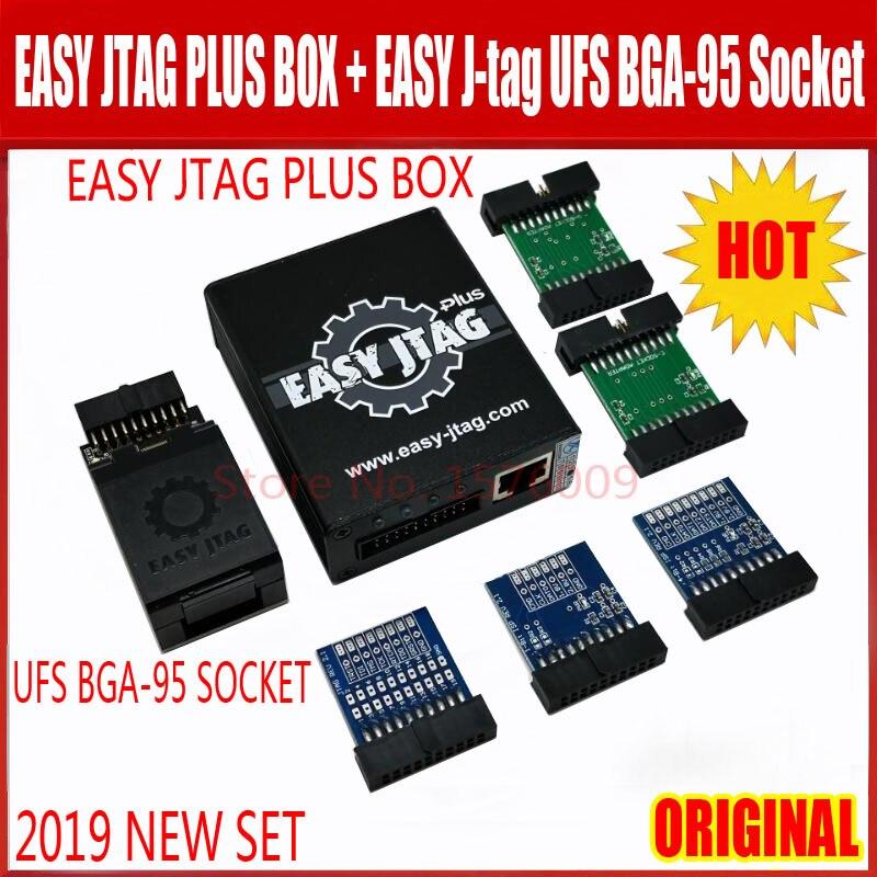 2019 nouvelle boîte originale facile j-tag plus avec adaptateur de prises de BGA-95 Easyjtag UFS