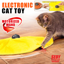 Electronic Cat Toy Fabric Cat's Meow Undercover Fabric Moving Mouse Fun AU 2613