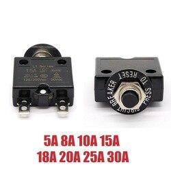 5A-30A DC 50V Push-Button автоматические выключатели T3 ручной сброс термальный автоматический выключатель защита от перегрузки