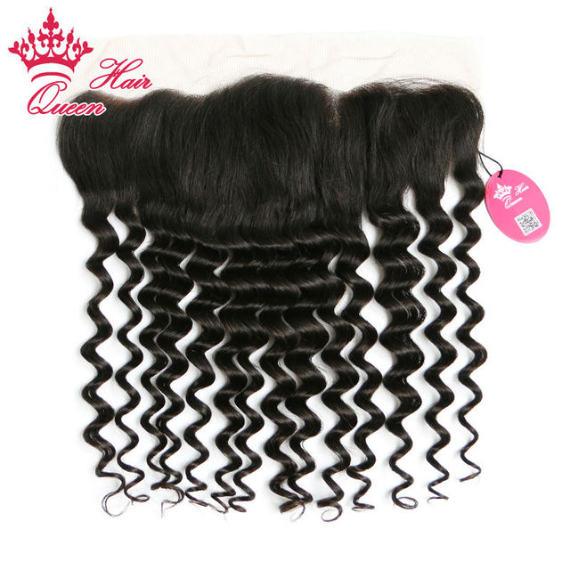 """Queen Hair Products 10""""-18"""" in stock Virgin Brazilian Hair More Wave Lace Front Closure 13""""*4"""" Lace Frontal DHL Free Shipping"""