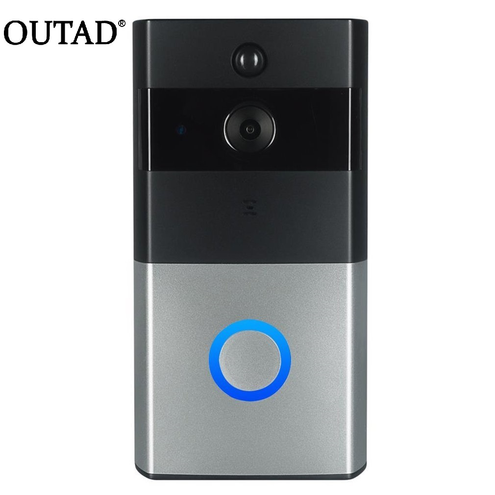 OUTAD Wireless Vision Doorbell Phone PIR WIFI 1.0MP HD Camera Night 720P IP Battery Power IR Motion Detection Alarm Waterproof smarsecur wire free ip camera 720p hd no wire 6400mah 8 months battery security wifi wireless ip camera with battery