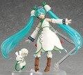 New hot sale anime figure toy CRYPTON FUTURE MEDIA Hatsune Snow Miku Winter Miku 13CM gift for children free shipping