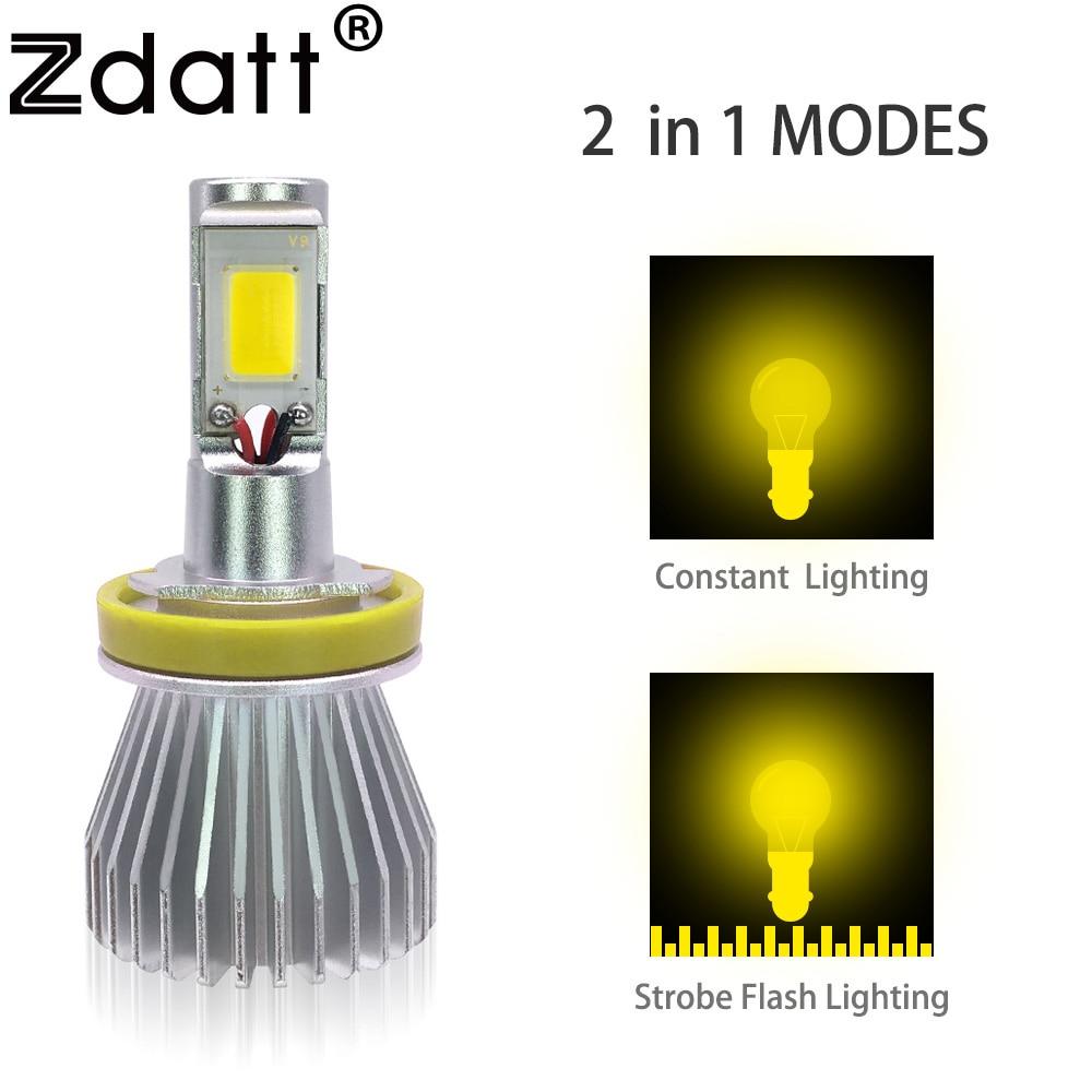 2Pcs H8 H9 H11 Led Fog Lamp 60W 6000LM Car <font><b>Light</b></font> Kit Golden Yellow 3000K 12V Strobe Flash Led <font><b>Light</b></font> Bulb Headlamp Automobiles