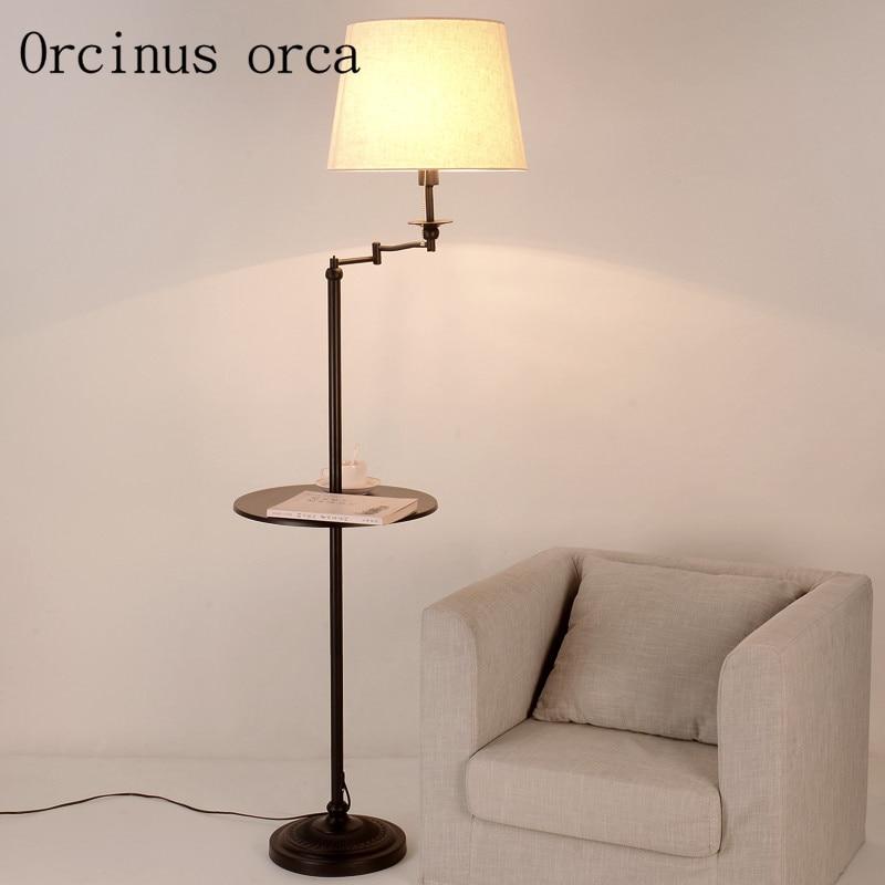 Floor lamp simple living room shelf lamp Nordic study bedroom creative vertical lamp floor lamp