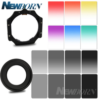 100x145mm ND2 ND4 ND8 ND16 Graduated Neutral Density Blue Orange Yellow 100*140mm Square Filter+Adaptet for Lee Cokin Z series