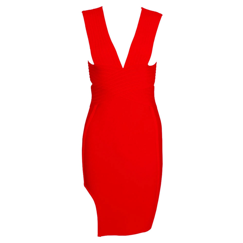 Leger Babe Women Bandage Dress 2018 Summer New Arrival Sexy Sleeveless Deep  V Neck Vestido Bodycon Bandage Dress for Club Party-in Dresses from Women s  ... 344f9344ef40