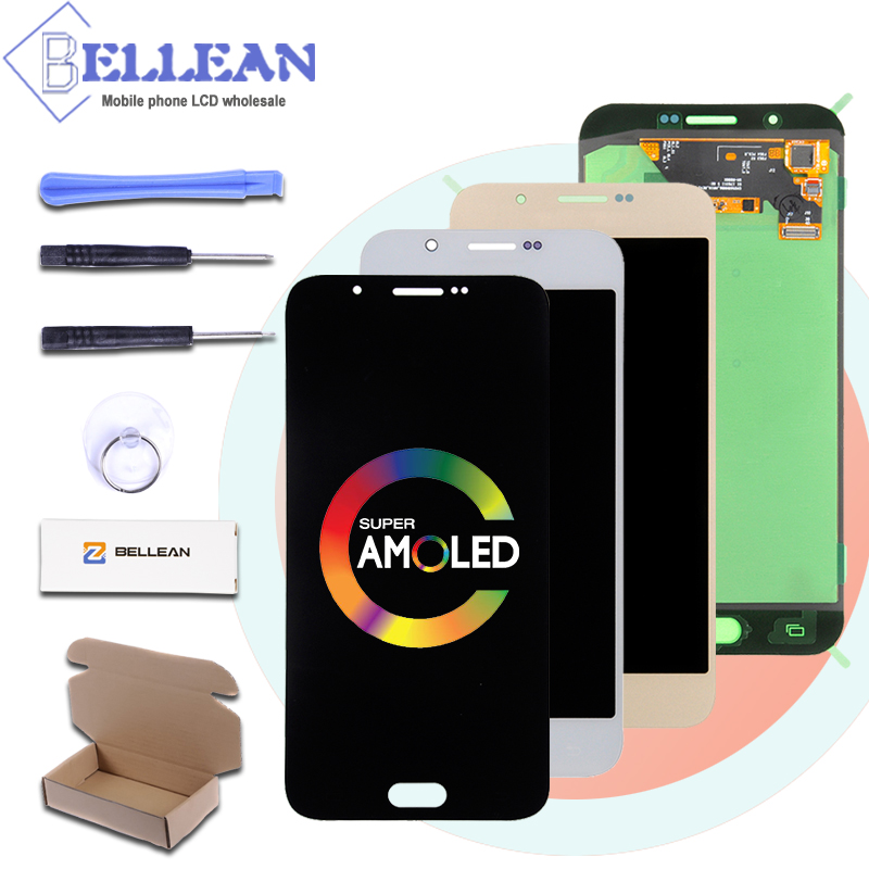 Catteny Free Shipping OLED A8 2015 LCD For Samsung Galaxy A8 Display A800 A8000 Lcd With Touch Screen Panel Digitizer Assembly