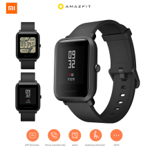 Original Huami Xiaomi AMAZFIT Bip Smart Watch Waterproof IP68 relogio inteligente relogio Xiaomi Heart Rate Monitor GPS reloj цены