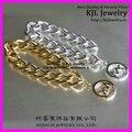 10pcs Latest fashion Gold Silver  Link Chunky chain bracelet, Alloy charms bracelet gold silver charm bracelet