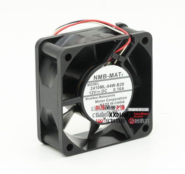 Original 2410ML-04W-B29 6025 12V 0.16A 6CM three wire double ball fan