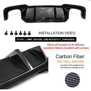 Image 2 - Carbon Fiber Rear Bumper Diffuser Lip Spoiler For BMW 5 Series F10 M5 Sedan 2012 2017 Car Tuning Parts