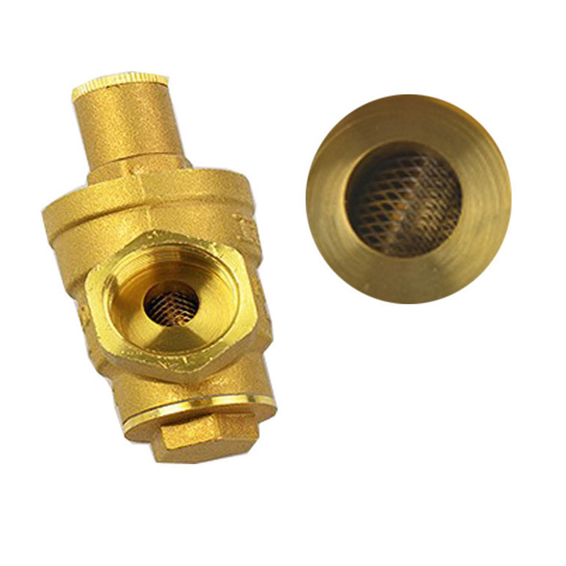 DN15 DN20 DN25 Brass Water Pressure Reducing Maintaining Valves Regulator Mayitr Adjustable Relief Valves With Gauge Meter
