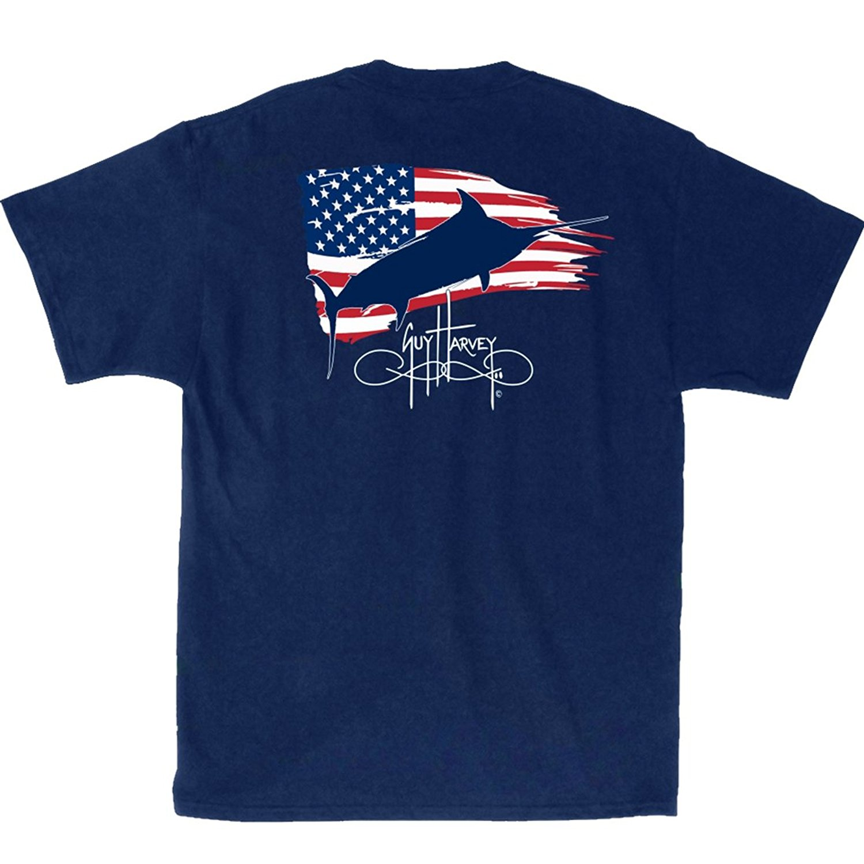 Basis Shirt Mode 2018 O Hals Kurzarm Herren Guy Harvey Patriot T Shirt T Shirts