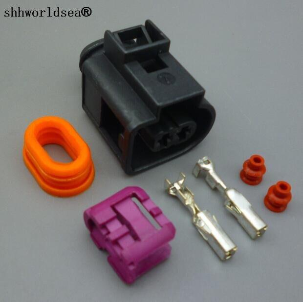 Shhworldsea 1pcs 3.5mm 2 Pin Electrical Auto Wire Connector For VW Passat Golf A3 A4 A6 Horn Plug 4D0971992  4D0 971 992