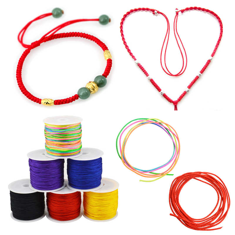 45m/rolls 0.8mm Waxed Cotton Cord For Beading Craft DIY Bracelet Necklace Braided String Thread Jewelry Findings Making