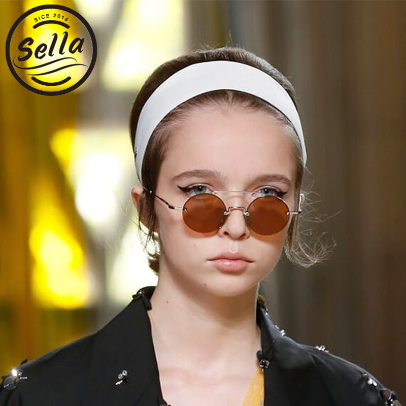 Sella New Fashion Women Men Small Alloy Frame Colorful Tint/Clear Lens Classic Round Sunglasses Retro Trending Eyewear Frame