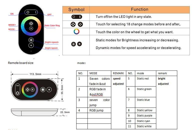 2 m pmma fibra optica rgb luz engien toque remoto 03