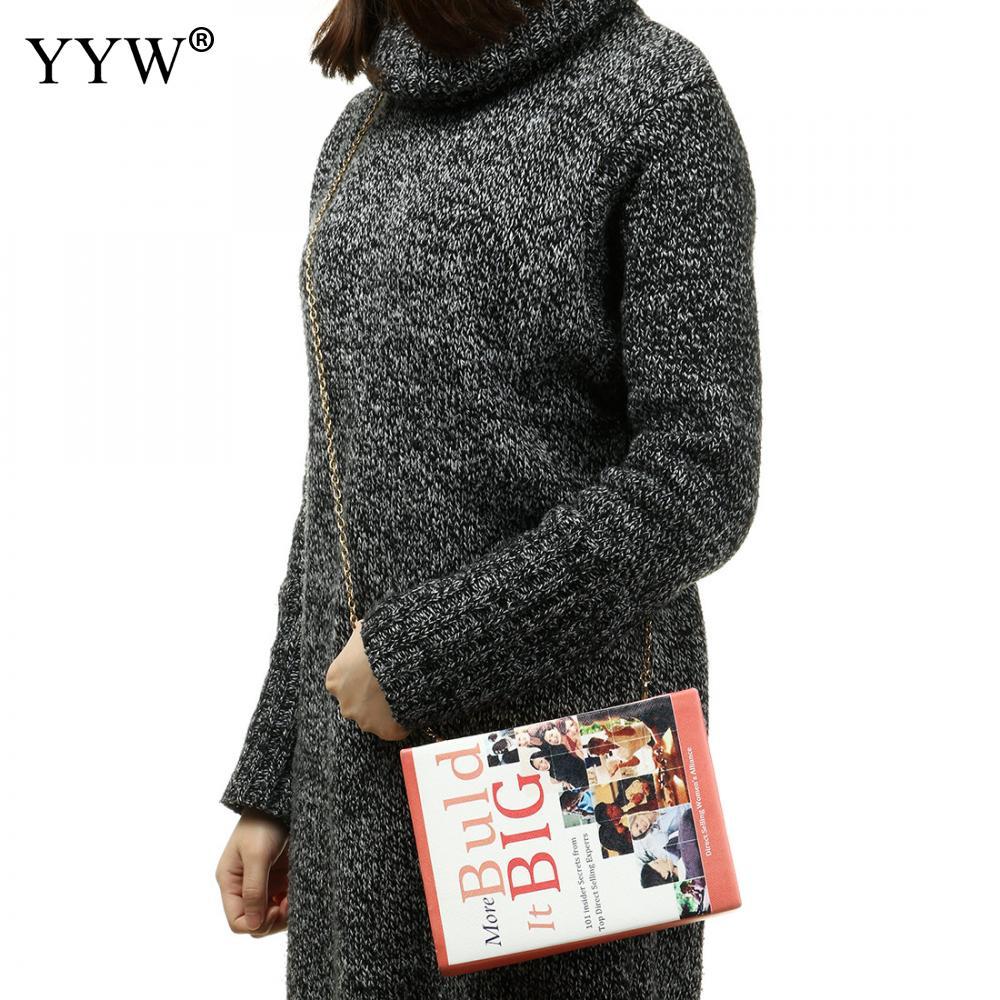 embreagem para as mulheres tipo livro sacos