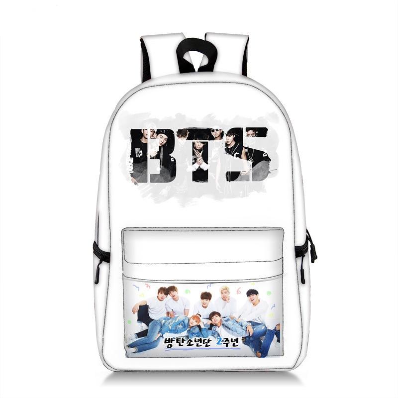 Korean Mochila BTS Backpack Jimin Kpop Bts Bangtan Boys Love Yourself Backpack School Bags for Teenager Girls JUNG KOOK Fans
