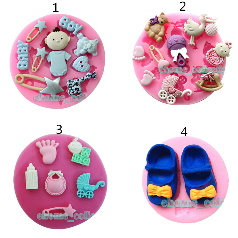 1pc Baby Toys Shape Silicone Biscuit Cake Cookie Mold Silicone Fondant Paste Mold Cake Decorating Tool Chocolate Soap Mold