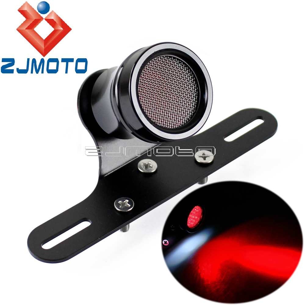 Motorcycle Tail Light Brake Light Tail Lamp W/ Bracket Rear Light Tailight For Harley Honda Cafe Racer Chopper Bobber
