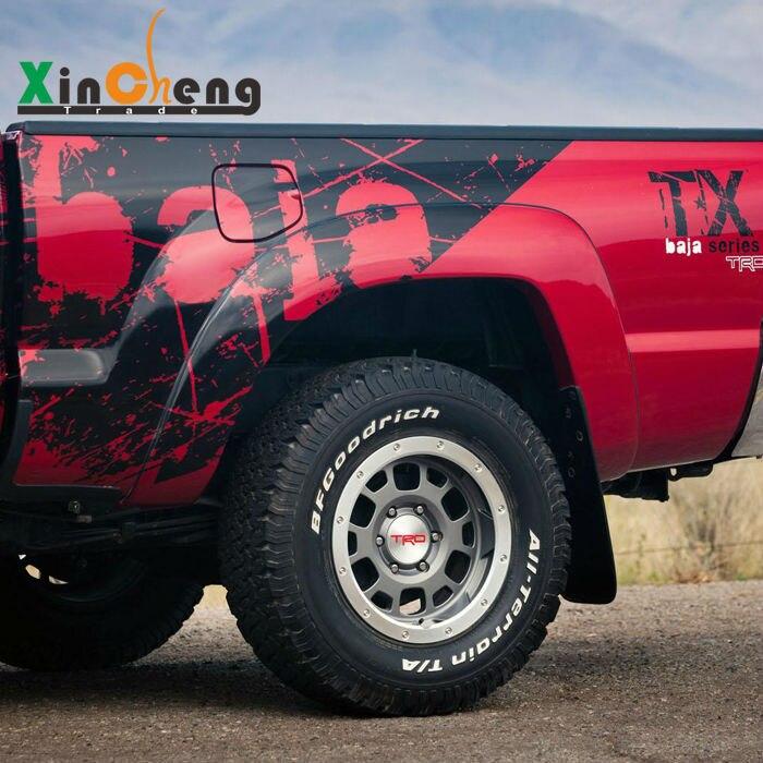 Autocollants de voiture spéciaux guirlande décorative boîtier modifié pour Toyota Tundra Wingle 5 ou 3 Raptor F150 pick-up