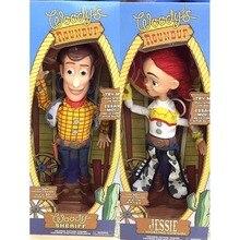 2 шт. 43 см История игрушек 3 говорящая Джесси и Вуди фигурки модель игрушки Детский Рождественский подарок Коллекционная кукла