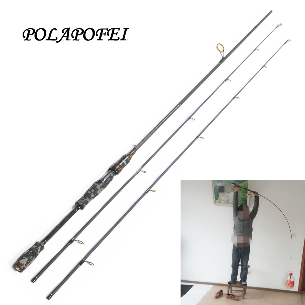 Polapofei 2 tips carbon fishing rod spinning fishing for Fly fishing with spinning rod