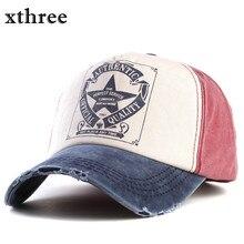 Xthree retro baseball cap women fitted cap snapback hats for men hip hop casual cap cheap hats casquette gorras bone