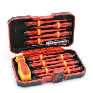 Image 1 - New 13 Pcs VDE Insulated Screwdriver Set CR V High Voltage 1000V Magnetic Phillips Slotted Torx Screwdriver Durable Hand Tools