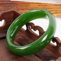 Бесплатная доставка Китайский Природный красивый зеленый нефрит камень браслет стиль тонкой jewe благородный 100% натуральный камень